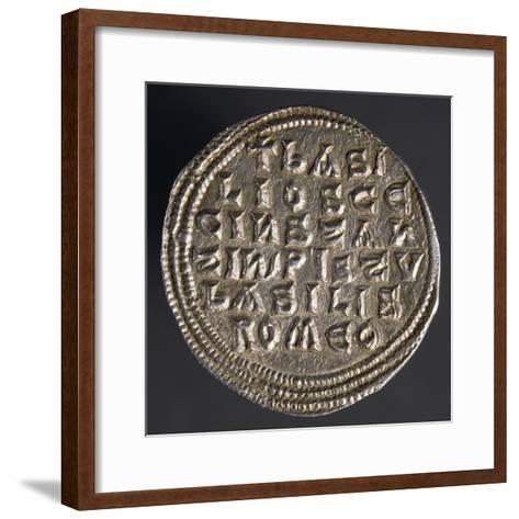 Silver Miliare of Emperor Basil I, Verso, Byzantine Coins, 9th Century--Framed Art Print