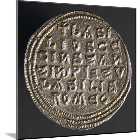 Silver Miliare of Emperor Basil I, Verso, Byzantine Coins, 9th Century--Mounted Giclee Print