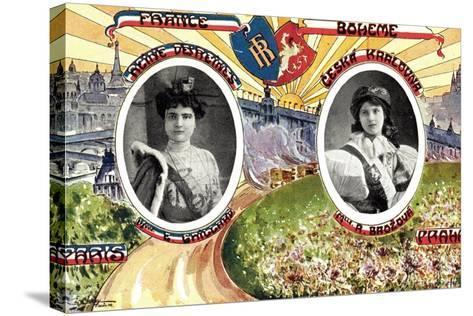 Königin Von Paris Und Von Prag, R. Brozova--Stretched Canvas Print