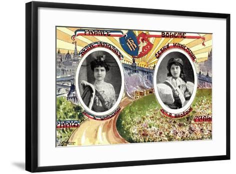 Königin Von Paris Und Von Prag, R. Brozova--Framed Art Print