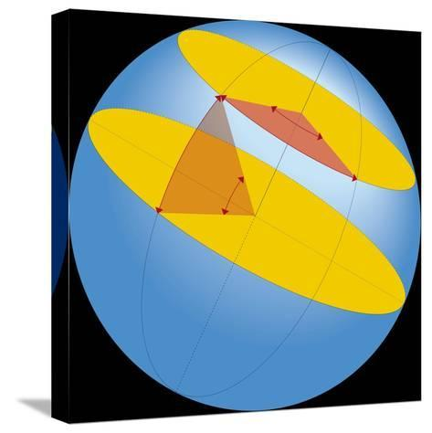 Diagram of Geographic Coordinate System of Earth--Stretched Canvas Print