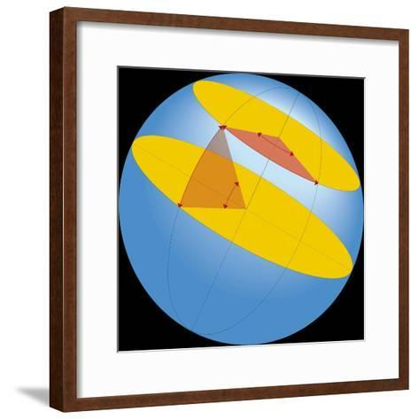 Diagram of Geographic Coordinate System of Earth--Framed Art Print