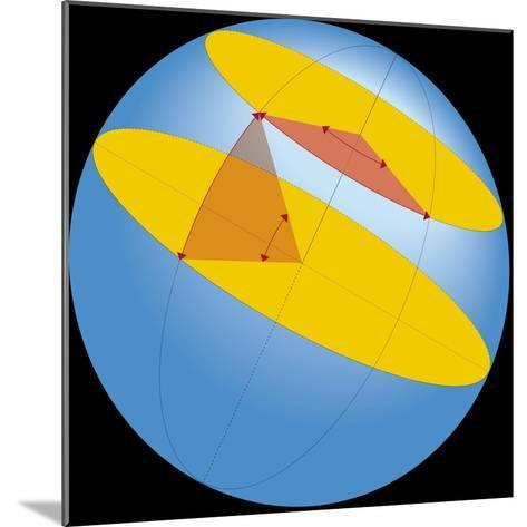Diagram of Geographic Coordinate System of Earth--Mounted Giclee Print