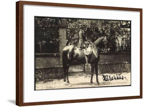 Foto Grimma Sachsen, Hubertus, Reiterin Mit Einem Hengst--Framed Art Print