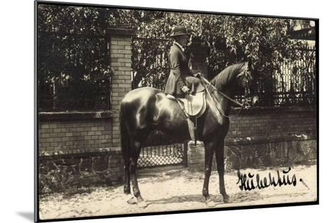 Foto Grimma Sachsen, Hubertus, Reiterin Mit Einem Hengst--Mounted Giclee Print