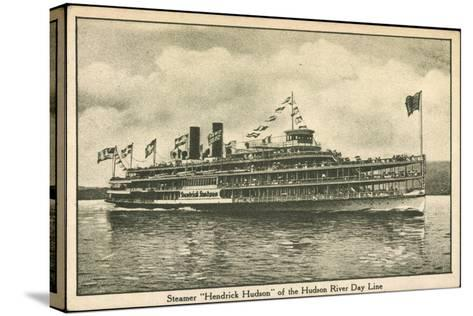 Dampfer Hendrick Huson, Hudson River Day Line--Stretched Canvas Print