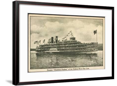 Dampfer Hendrick Huson, Hudson River Day Line--Framed Art Print