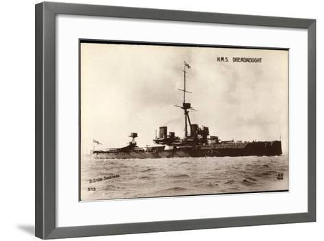 Kriegsschiffe Frankreich, H.M.S Dreadnought--Framed Art Print