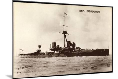 Kriegsschiffe Frankreich, H.M.S Dreadnought--Mounted Giclee Print