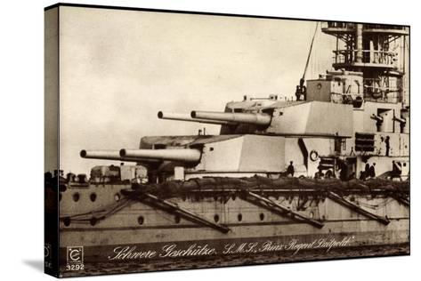Kriegsschiff S. M. S. Prinzregent Luitpold--Stretched Canvas Print