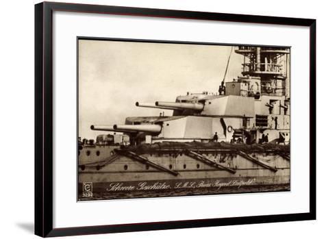 Kriegsschiff S. M. S. Prinzregent Luitpold--Framed Art Print