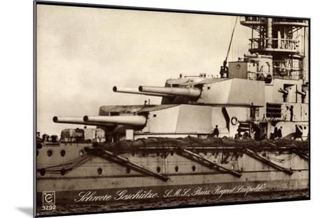 Kriegsschiff S. M. S. Prinzregent Luitpold--Mounted Giclee Print