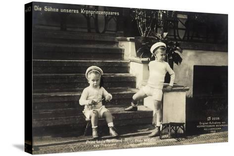 Söhne Unseres Kronprinzenpaares in Uniformen--Stretched Canvas Print