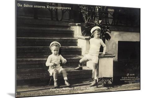 Söhne Unseres Kronprinzenpaares in Uniformen--Mounted Giclee Print