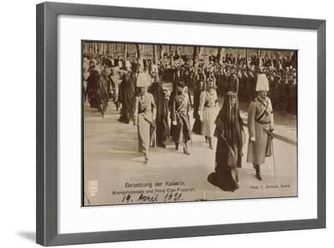 Beisetzung Der Kaiserin, Prinz Eitel Friedrich--Framed Art Print