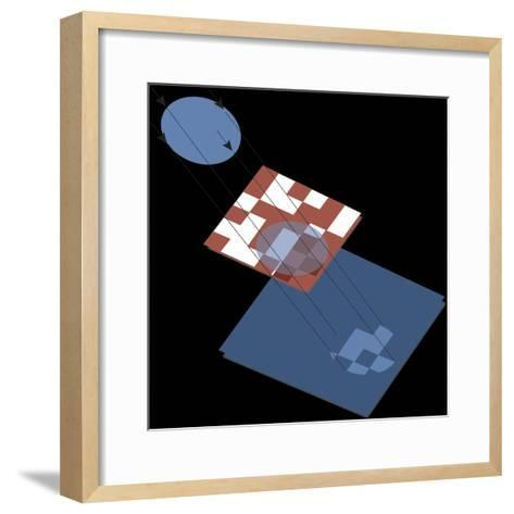 Gamma Ray Detector 'Coded Aperture Mask', Astronomy Diagram--Framed Art Print
