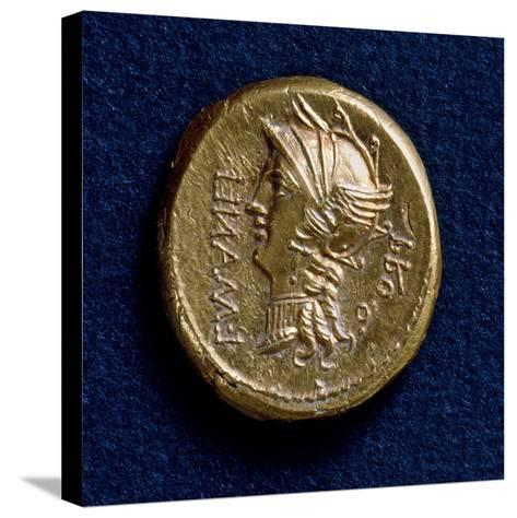 Lucius Cornelius Sulla Aureus, Bearing Image of Roma Wearing Winged Helmet, Recto, Roman Coins BC--Stretched Canvas Print