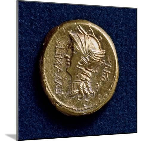 Lucius Cornelius Sulla Aureus, Bearing Image of Roma Wearing Winged Helmet, Recto, Roman Coins BC--Mounted Giclee Print
