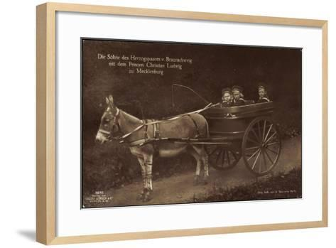 Prinzen Von Braunschweig, Prinz Christian L., Esel--Framed Art Print