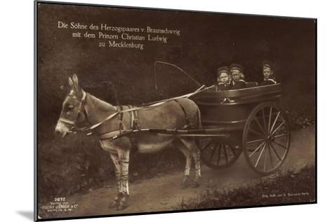 Prinzen Von Braunschweig, Prinz Christian L., Esel--Mounted Giclee Print