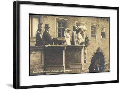 Herzog Carl Eduard, Friedenstein, Balkon, Regenten--Framed Art Print