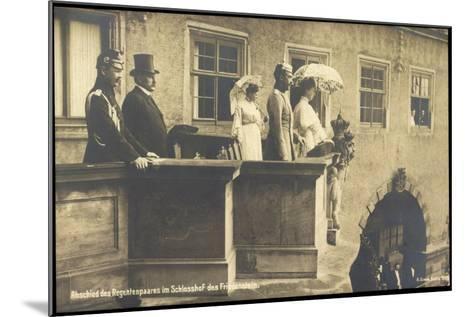 Herzog Carl Eduard, Friedenstein, Balkon, Regenten--Mounted Giclee Print