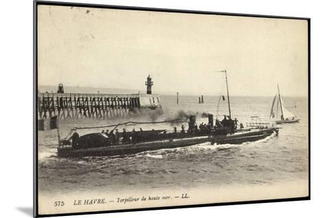 Franz?sisches Kriegsschiff Im Hafen, Segelboot--Mounted Giclee Print