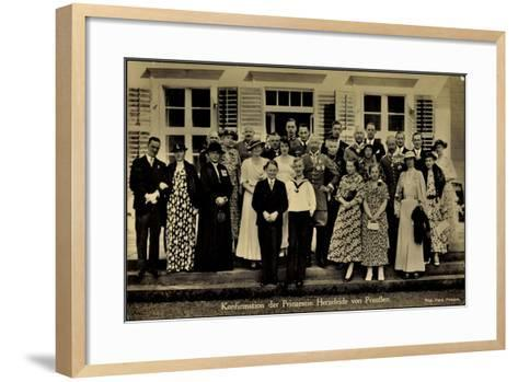 Prinzessin Herzeleide Von Preußen, Konfirmation--Framed Art Print