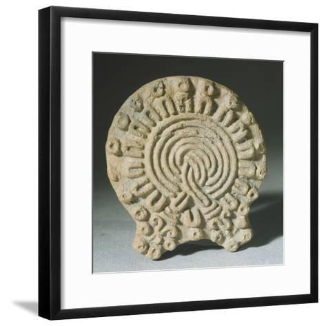 Mold for the Makeup from Mexico. Aztec Civilization--Framed Art Print