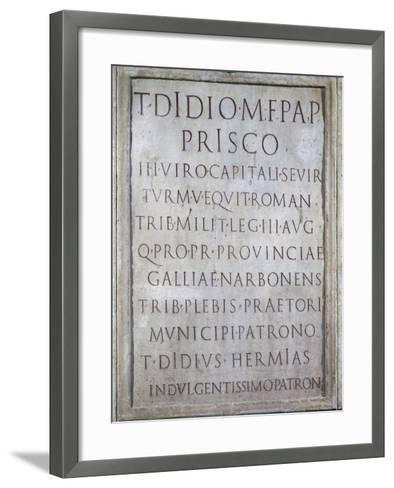 Tombstone of Tito Didio Prisco--Framed Art Print