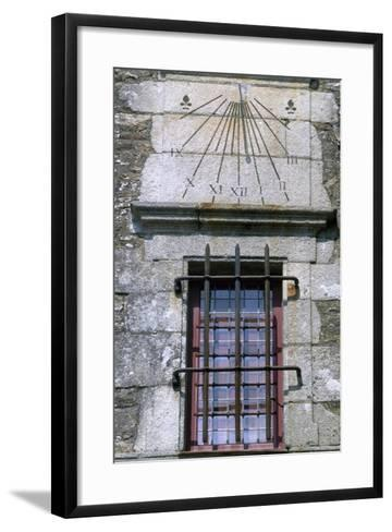 Window and Sundial, Detail from Logis De La Chabotterie Residence, France, 15th-18th Century--Framed Art Print