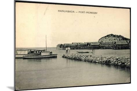 Port Moresby Hanuabada Papua Neu Guinea, Häuser--Mounted Giclee Print