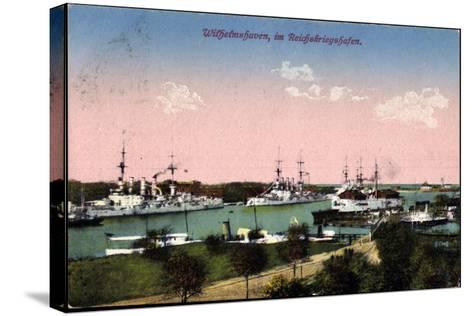 Wilhelmshafen Nieders., Reichskriegshafen, Schiffe--Stretched Canvas Print