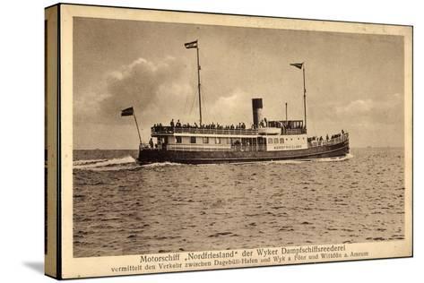 Wyker Dampfschiff Reederei, Motorschiff Nordfriesland--Stretched Canvas Print