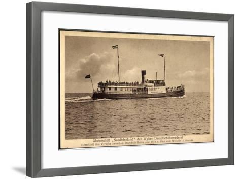 Wyker Dampfschiff Reederei, Motorschiff Nordfriesland--Framed Art Print