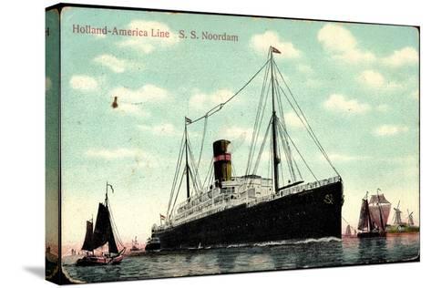 Hapag, S.S. Noordam, Dampfschiff, Segelboote--Stretched Canvas Print