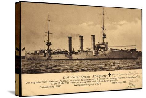 Kriegsschiff S. M. Kleiner Kreuzer Königsberg--Stretched Canvas Print