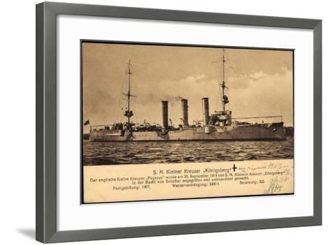 Kriegsschiff S. M. Kleiner Kreuzer Königsberg--Framed Art Print