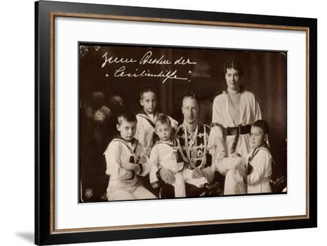 Kronprinz Wilhelm Und Cecilie Mit Söhnen, Npg--Framed Art Print