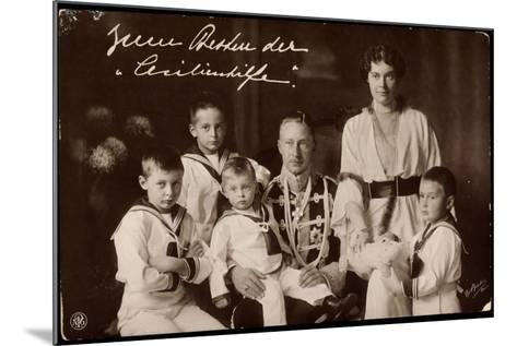 Kronprinz Wilhelm Und Cecilie Mit Söhnen, Npg--Mounted Giclee Print