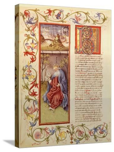 Illuminated Page from the Manuscript of 24 Elders, Germany 15th Century--Stretched Canvas Print