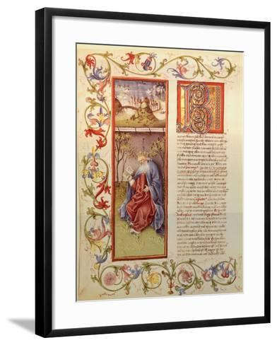 Illuminated Page from the Manuscript of 24 Elders, Germany 15th Century--Framed Art Print