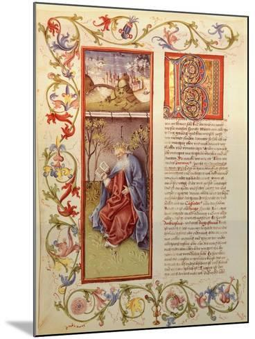 Illuminated Page from the Manuscript of 24 Elders, Germany 15th Century--Mounted Giclee Print