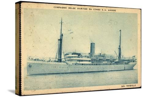 Compagnie Maritime Belge, S.S. Thysville,Dampfschiff--Stretched Canvas Print