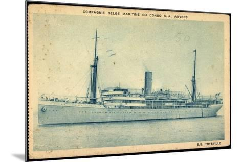 Compagnie Maritime Belge, S.S. Thysville,Dampfschiff--Mounted Giclee Print