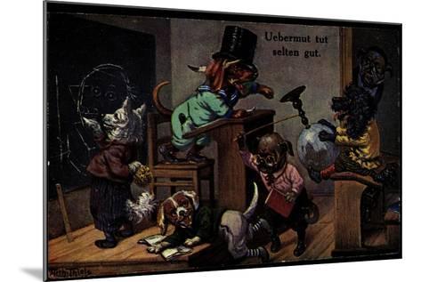Künstler Thiele, Arthur, Uebermut Tut Selten Gut, Hunde, Schulklasse--Mounted Giclee Print