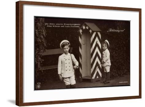 Söhne Des Kronprinzenpaares, Zollhütte, Npg 4778--Framed Art Print