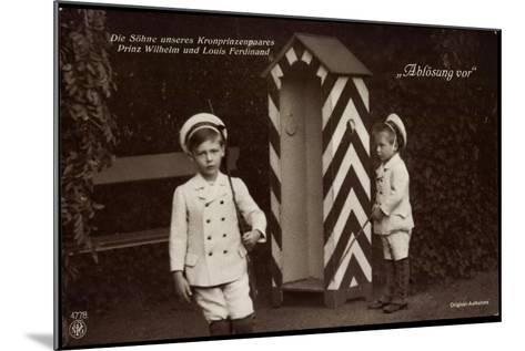 Söhne Des Kronprinzenpaares, Zollhütte, Npg 4778--Mounted Giclee Print