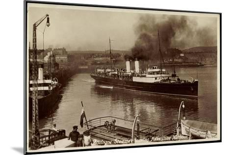 Folkestone, Boulogne Steamer Leaving Harbour--Mounted Giclee Print