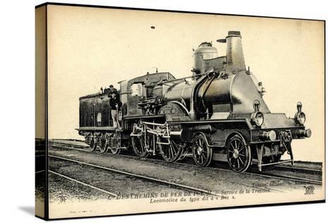 Eisenbahnen, Frankreich, Dampflokomotive Bec, Tender--Stretched Canvas Print